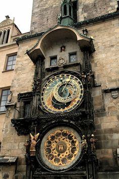 Prague Astronomical Clock Prague Orloj Medieval Circa 1410 Czech Republic Signed Photo Surreal Dark Jewel Tones Art by Prague Astronomical Clock, Medieval, Cool Clocks, Old Town Square, Prague Czech, Beautiful World, Beautiful Places, Amazing Places, Czech Republic