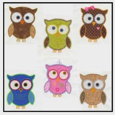 These six cute owls