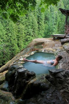 Umpqua Hot Springs And National Forest, Oregon... This reminds me of our lake house