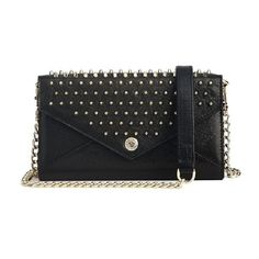 Studded Wallet on a Chain ($225) ❤ liked on Polyvore