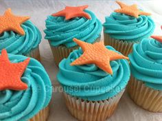 Star fish cupcakes by Carousel Cupcakes - Galapagos Island commission