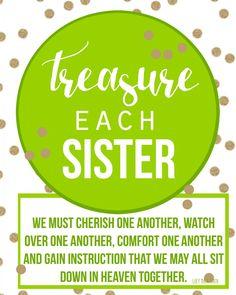 treasure each sister visiting teacher printable