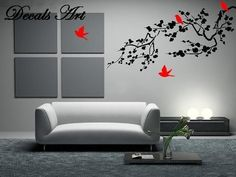 Branch with Birds  Vinyl wall sticker wall decal tree by DecalsArt, $39.00