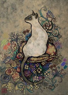 """""""Siamese Cats"""" (Jane Crowther) 1000pc jigsaw puzzle by Heye"""