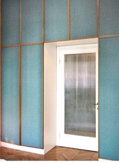 wall panels w herringbone floor. gorgeous