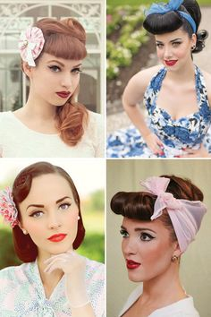 Pin Up Vintage Hair Inspiration | www.onefabday.com