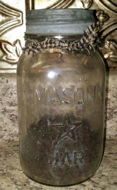 mason jar with  star