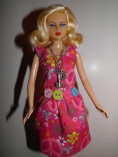 Handmade OOAK Dress for Barbie Like Dolls Peace by sherimusum, $8.00