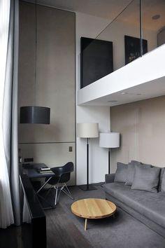 Modern office space with mezzanine