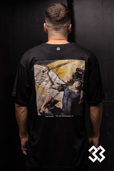 Soft Modal & Cotton T-shirt printed on the back side. Archangel Michael T-shirt (Luca Giordano) Tailor Shop, Archangel Michael, Printed Shirts, Wicked, Cotton, Mens Tops, T Shirt, Fashion, Supreme T Shirt