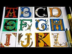 Great Tutorial Showing How to Draw Illuminated Letters - Sakura of America - Marzipan High School Art, Middle School Art, Middle Ages, Illuminated Letters, Illuminated Manuscript, 8th Grade Art, Basic Drawing, Medieval Art, Medieval Times