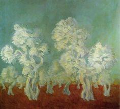 Vittorio Viviani, Olive Trees, oil on canvas, 120x130cm, 1967.