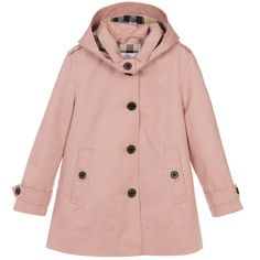 Burberry - Girls Pink 'Geri' Trench Coat |