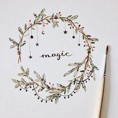 New art journal inspiration ideas doodles fun Ideas Freetime Activities, Theme Noel, Bullet Journal Inspiration, Journal Ideas, Christmas Art, Christmas Calendar, Beautiful Christmas, Xmas Cards, Doodle Art