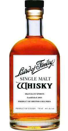 laird of fintry single malt whisky · Canadian Whisky from British Columbia