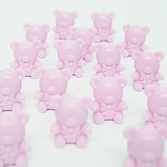 Teddy Bear Pink Plastic Items