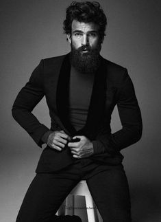 he actually looks cool and this coming from someone who is not into big beards.