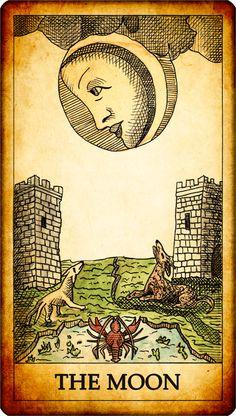 tarot moon xviii - Google Search