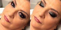 maquiagem colorida para mulheres mais velhas peles maduras azul marinho e turquesa por julika oliveira allmylooks makeup hugo beauty porto alegre