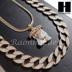 "14k Gold PT Jesus Face 15mm Miami Cuban 30"" Cuban Link Chain Necklace S155"