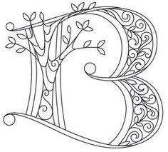 Letter Perfect - Letter B design (UTH7593) from UrbanThreads.com ...