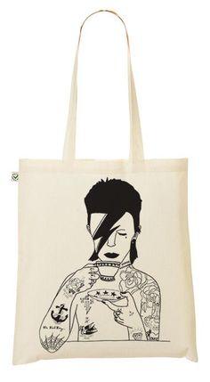 Um, I think I need this David Bowie reusable shopping bag. Yep. I definitely do.