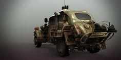 ArtStation - sci-fi ww2 allied vehicle, Matthias Develtere