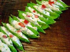 Crab Salad in Snow Peas