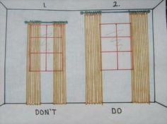 La manera correcta de hacer unas cortinas para agrandar (visualmente) un ventanal