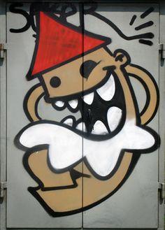 Utrecht, Badass, Graffiti, Street Art, Smile, Fictional Characters, Fantasy Characters, Graffiti Artwork, Laughing