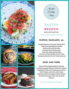 Gluten-Free Easter Brunch Menu - muffins, pancakes, quiche, frittatas and more; all you need is a fresh fruit platter or fruit salad to round this menu out ~ http://jeanetteshealthyliving.com