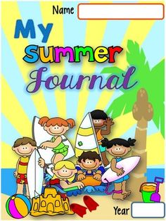 SUMMER JOURNAL from LidonBeltran from LidonBeltran on TeachersNotebook.com (52 pages)  - A SUMMER JOURNAL, SUMMER WORD BANK AND VACATION ACTIVITY BOOK ALL IN ONE! It makes a perfect gift for the end of the year and it encourages writing during the summer.