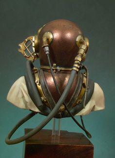 Andrea Miniatures: The Bust Collection - U. Scuba Diving Gear, Diving Suit, Sea Diving, Nautical Office, Diver Down, Deep Sea Diver, Vintage Helmet, Diving Helmet, Under The Sea Theme