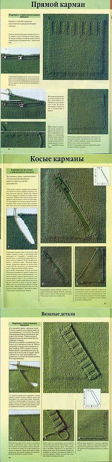 Вязание: карманы спицами