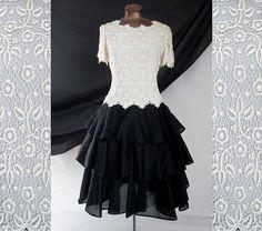 Vtg Oscar de la Renta Party Prom Dress by LilBlackDressVintage, $40.00