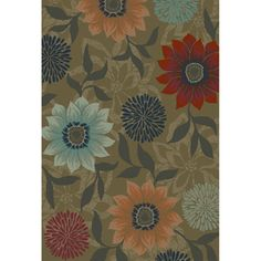 Oriental Weavers of America Cumberland Rectangular Brown Floral Woven Area Rug (Common: x Actual: x Floral Area Rugs, Floral Rug, Lowes Rugs, Natural Area Rugs, Brown Floral, Lowes Home Improvements, My Design, Oriental, Indoor