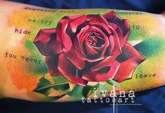 Rose watercolor http://instagram.com/ivanatattooart