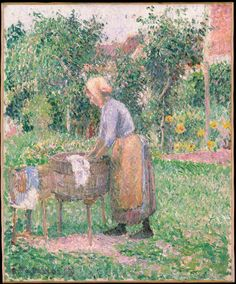 A portrait of a labourer in the town of Eragny, where Impressionist artist Pissarro stayed during the summer and autumn of 1893. At this point, the permanent transition of his style to Pointillism self-evident.