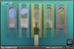 Blackys Sims 4 Zoo: Curtain MinLong2 transparent by mammut • Sims 4 Downloads