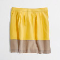 Factory pleated colorblock skirt