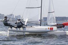 Samuel Albrecht e Isabel Swan estão de volta a equipe olímpica. Foto Fred Hoffmann/CBvela