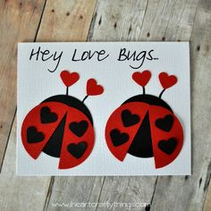 Love Bug Valentine Card | I Heart Crafty Things