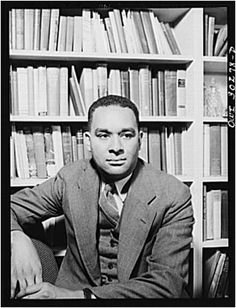 Richard Wright, photographed in his New York study by Gordon Parks, May 1943.   His book - 'Native Son' - is a must-read for all Americans!
