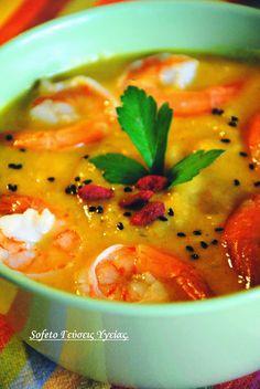 Βελουτέ σούπα με γαρίδες