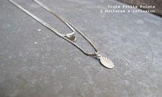 #TroisPetitsPoints // #Ellipse #necklace #goldplatedbrass #paris @ Matières à réflexion