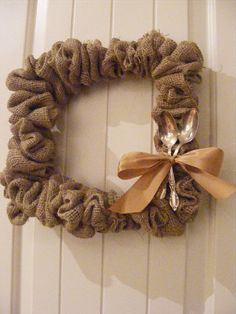 Square Wreath. I think I'd replace the spoons with an initial.