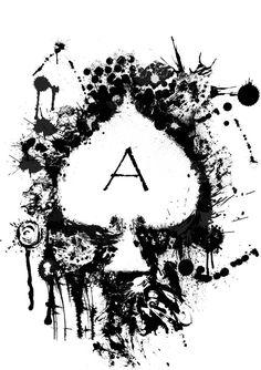ace of spades tattoo design / ace of spades tattoo ` ace of spades tattoo meaning ` ace of spades tattoo small ` ace of spades tattoo girly ` ace of spades tattoo men ` ace of spades tattoo sleeve ` ace of spades tattoo design ` ace of spades tattoo ideas Ace Of Spades Tattoo, Spade Tattoo, Card Tattoo Designs, Playing Cards Art, Dibujos Tattoo, Neue Tattoos, Arte Horror, Skull Art, Dark Art