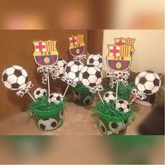 Soccer theme centerpieces