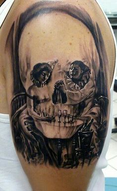 #Tattoo #Totenkopf #Dinner #clown