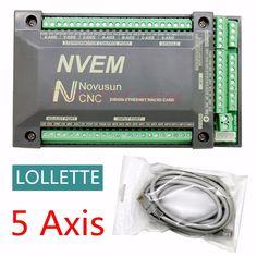 NVEM CNC Controller 200KHZ Ethernet MACH3 Motion Control Card for Stepper Motor 5-Axis #Affiliate